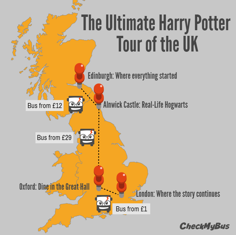 Discover the world of Harry Potter by bus