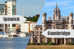 Best CheckMyBus Connection for April: Ipswich to Cambridge