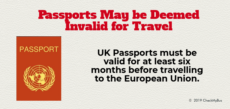 Passports May Not Be Deemed Valid for Travel